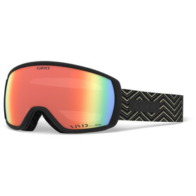 Giro Facet Maschera Donna, black zag/vivid infrared